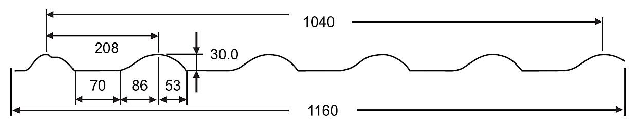 Размеры, габариты, технические характеристики металлочерепица ИСПАНСКАЯ ДЮНА 20, металлочерепица испанская дюна 20 цена, финская металлочерепица испанская дюна 20 монтаж,  металлочерепица испанская дюна 20  в Новороссийске